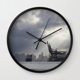 Miami Port Wall Clock