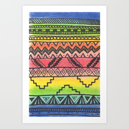 Tribal #3 Art Print