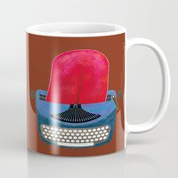typewriter Mugs featuring Typewriter by gunberk