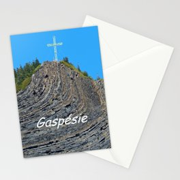 Cross on twisted rocks Stationery Cards