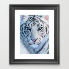 White Tiger Cub 852 Framed Art Print