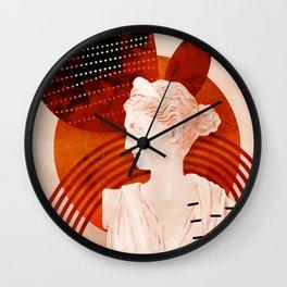 diana artemis bust Wall Clock
