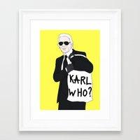 karl Framed Art Prints featuring Karl by Neon Wonderland