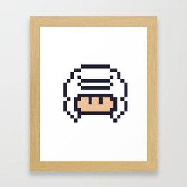 White Gulfi Mushroom Framed Art Print
