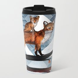 Fox Wood Metal Travel Mug