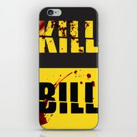 kill bill iPhone & iPod Skins featuring Kill Bill by Melis Kalpakçıoğlu