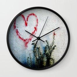Minimal Flora Love Plant Wall Clock