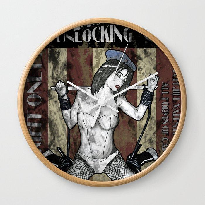 Jill Valentine The Master Of Unlocking Carnival Poster (Resident Evil) Wall Clock