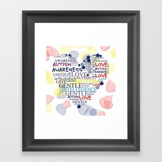 Autism Awareness Art Posters Framed Artwork: Autism Awareness Framed Art Print By Geni