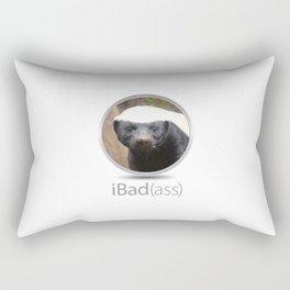 iBad(ass) Honey Badger Rectangular Pillow