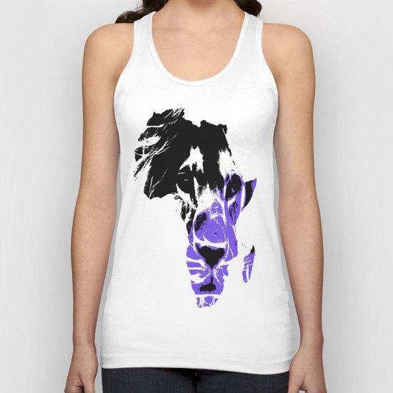 Africa Lion : Purple Unisex Tank Top