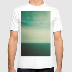 Dare to Leap White MEDIUM Mens Fitted Tee