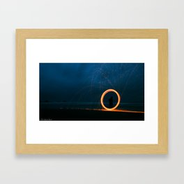 Steel Wool Circle Framed Art Print