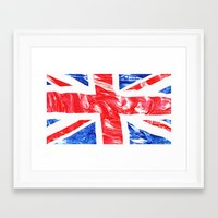 uk Framed Art Prints featuring UK by arnedayan