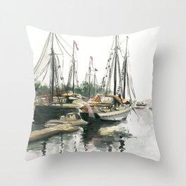 Camden Harbor Throw Pillow