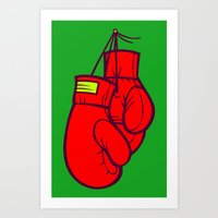 boxing Art Prints featuring Boxing Gloves by Artistic Dyslexia
