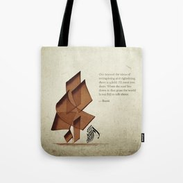 Arabic Calligraphy - Rumi - Beyond Tote Bag