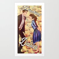 pushing daisies Art Prints featuring Pushing Daisies  by Marlo Musa