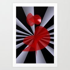 red white black -19- Art Print