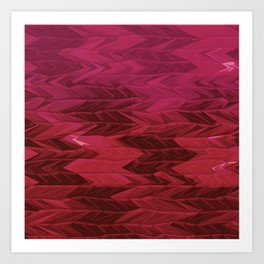 Red Faded Chevron Art Print