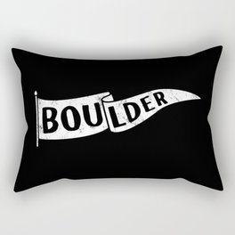 Boulder Colorado Pennant Flag B&W // University College Dorm Room Graphic Design Decor Black & White Rectangular Pillow