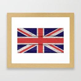 Union Jack UK Flag On Old Timber Framed Art Print