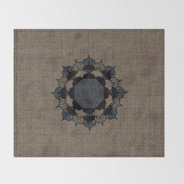 Lotus Mandala on Fabric Throw Blanket