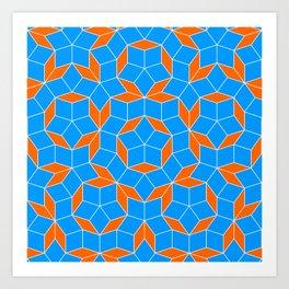 Penrose Tiling Pattern Art Print