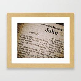Book of John Framed Art Print