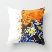 moto Throw Pillows featuring Moto Splash by Joshua Meno