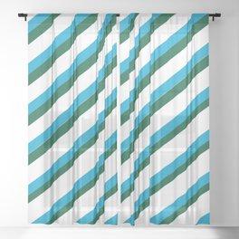 TEAM COLORS 1...LIGHT BLUE,GREEN Sheer Curtain
