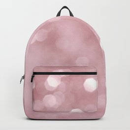 Rose Gold Blush Bokeh #1 #shiny #decor #art #society6 Backpack
