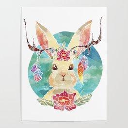 Majestic Jackalope Poster
