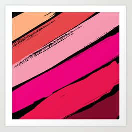 diagonal stripes Art Print