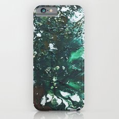Green abstract liquidity. iPhone 6s Slim Case