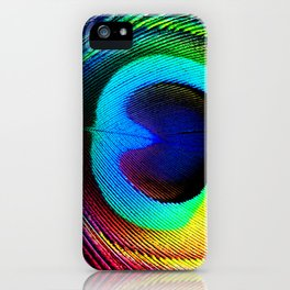 Colorfull Feather Peacock iPhone Case
