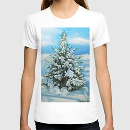 The Day After Snow Scene Art T-shirt