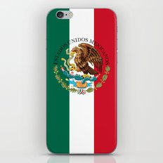 Flag of Mexico with Coat of Arms (augmented scale) iPhone & iPod Skin