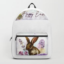 Lilac and Bunny Backpack