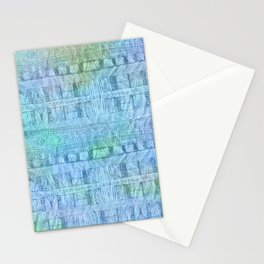 aztec by the ocean Stationery Cards