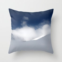 White Mountain Winter Throw Pillow