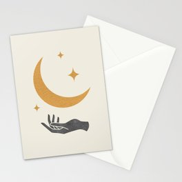 Moonlight Hand Stationery Cards