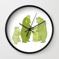 Bear family of Five Wall Clock