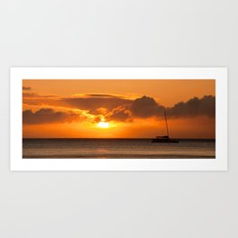 Hawaiian sunset  Art Print