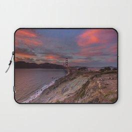 Golden Gate Bridge at Sunset Laptop Sleeve