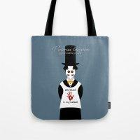 literature Tote Bags featuring Victorian Literature - Stevenson by Natallia Pavaliayeva