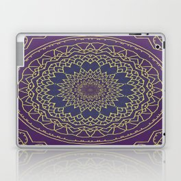 Mandala - purple and gold Laptop & iPad Skin
