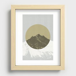 Lost Mountain Recessed Framed Print