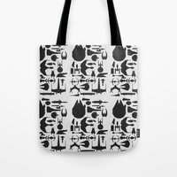 sci fi Tote Bags featuring Famous Sci Fi Ships by Ewan Arnolda