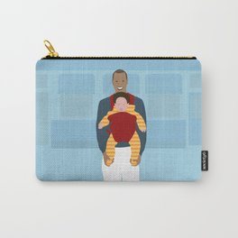 Man carrying baby Carry-All Pouch